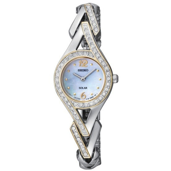 Seiko Womens Solar Crystal Analog Stainless Watch