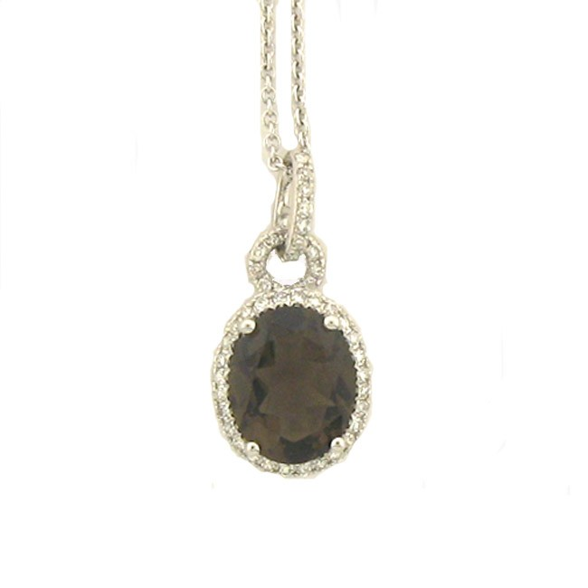 Smoky Topaz & Diamond Necklace