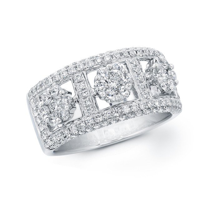 14k White Gold Micro Prong Band