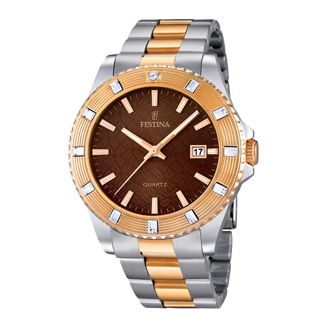 FESTINA BICOLOR STEEL & ROSE GOLD MEN'S WATCH
