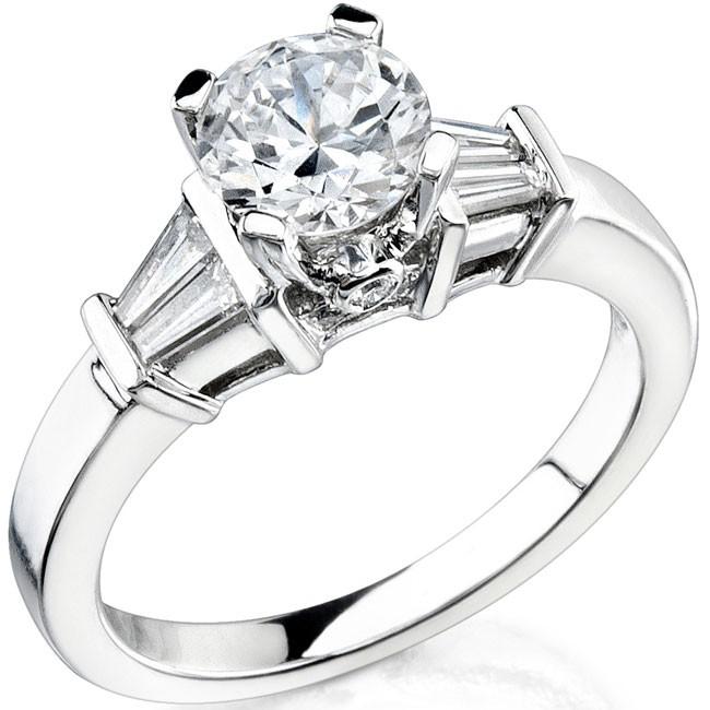 14k White Gold Pave Bezel And Channel Set Diamond Semi Mount