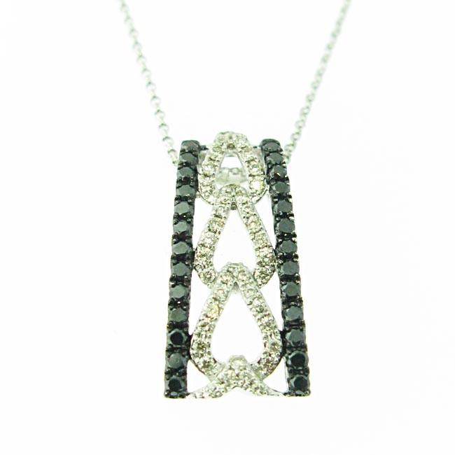 Black & White Diamond Pendant