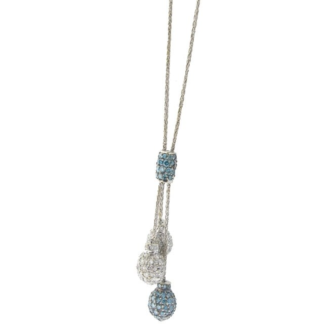 Blue and White Diamond Necklace