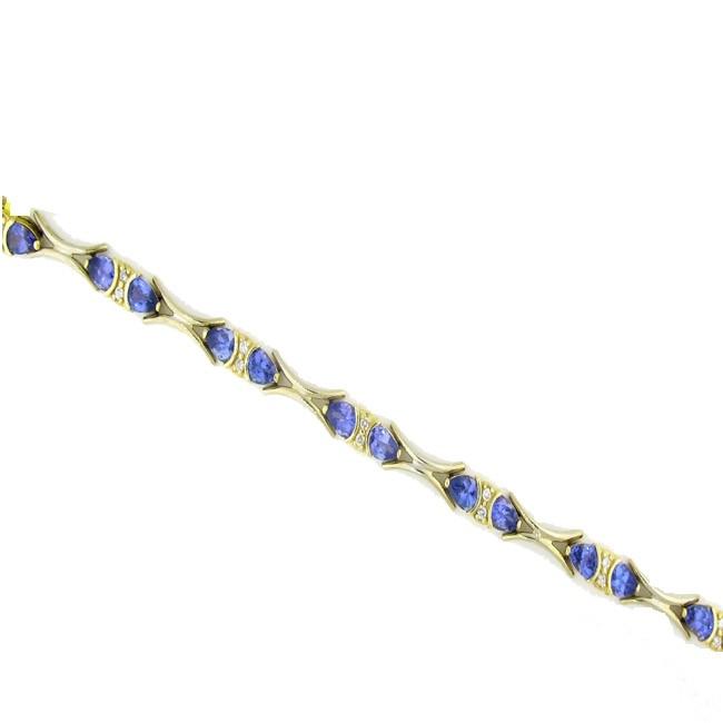 Tanzanite & Diamond Bracelet
