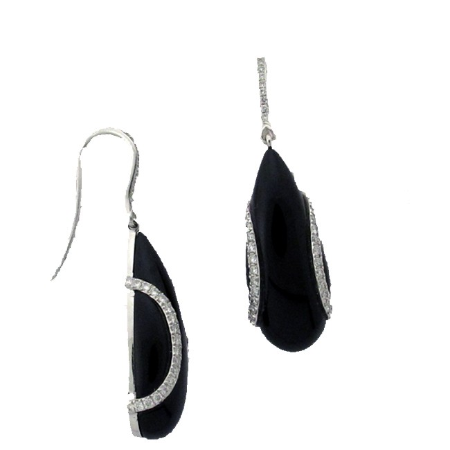 Black Onyx & Diamond earring