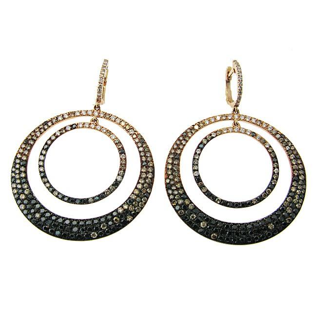 Fancy shape Diamond Earrings in rose gold.