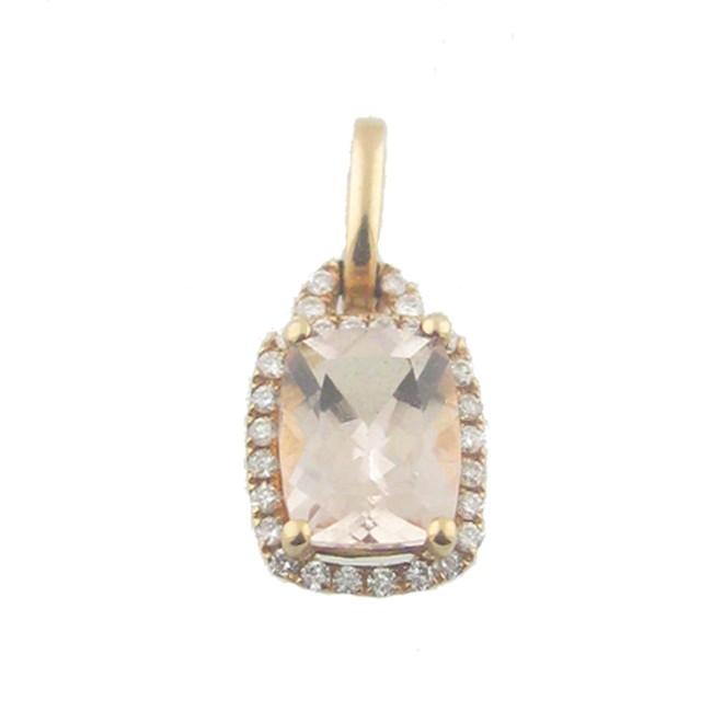 Morgarnite & Diamond & Pendant