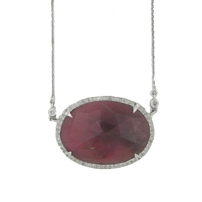 Corundm & Diamond Necklace