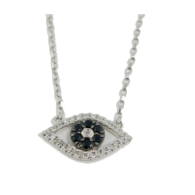Black Diamond Evil Eye Necklace