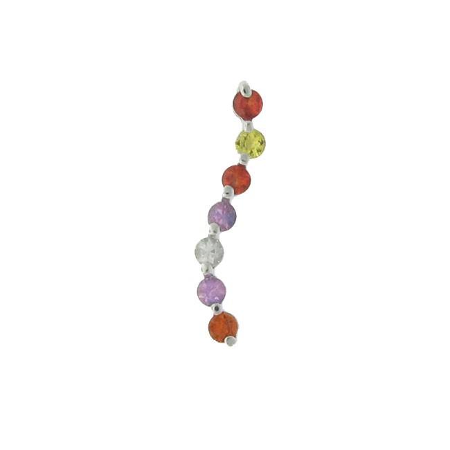 Multi Coloured Gemstone Pendant
