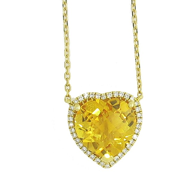 Citrine & Diamond Necklace
