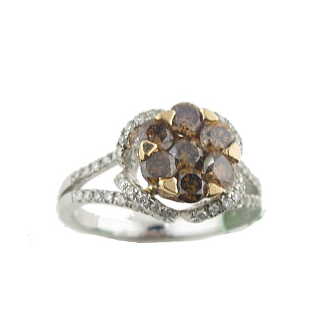Toffee Brown & Diamond Ring