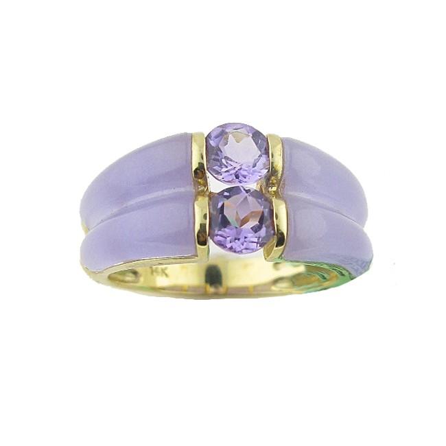 Amethyst & Lavender Jade Ring