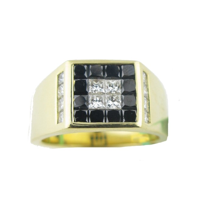 Black & White Diamond Men's Ring