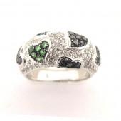 Tsavorite & Diamond Ring
