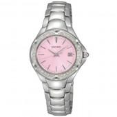 Seiko Ladies  Swarovski Crystal and Pink Face Watch