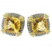 Citrine & Campaign Diamond Earrings