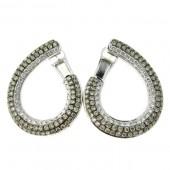 Campaign & White Diamond Fancy Hoop Earrings
