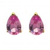 Pink Topaz Earrings