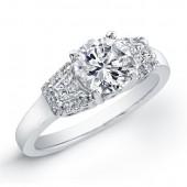 18k White Gold  Diamond Semi Mount