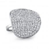 14k White Gold Pave Fashion Ring