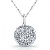 14k White Gold Pave Diamond Pendant