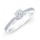 14k White Gold 1/5ct TDW White Diamond Engagement Ring