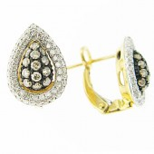 Champaign & White Diamond Earrings
