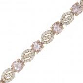 Morganite & Diamond Bracelet