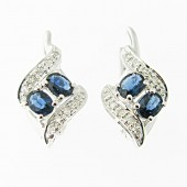 Sapphire & Diamond Earrings