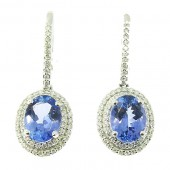 Tanzanite & Diamond Drop Earrings