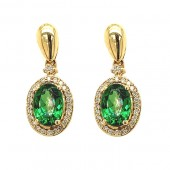 Tsavorite & Diamond Earrings