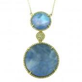 Lapis & Diamond Necklace