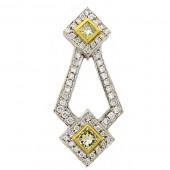 Yellow & White Diamond Pendant