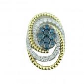 Blue & White Diamond Slide