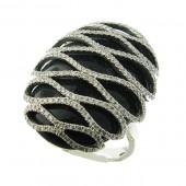 Onxy and Diamond Ring