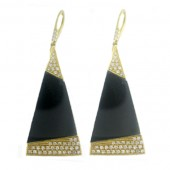 Onyx & Diamond Earring