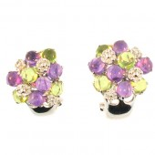 Multi Colored Diamond Earrings