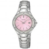 Seiko Ladies  Swarovski Crystal and Pink Face Watch