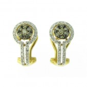 Champagne & White Diamond Earrings