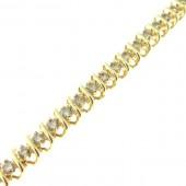 Diamond Spiral Tennis Bracelet