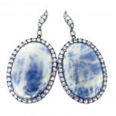 Sapphire & Tanzanite Earrings