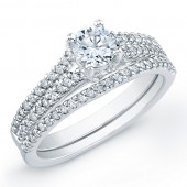 14k White Gold Timeless Diamond Bridal Set