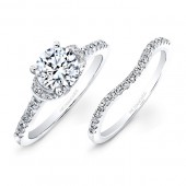 14k White Gold White Diamond Bridal Set