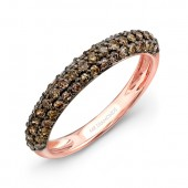 18k Rose and Black Gold Brown Diamond Band