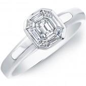 14k White Gold Diamond Mosaic Ring