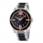 Festina Women's  Black Ceramic Quartz Watch with Black Dial