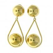 Fancy Gold Drop Earrings