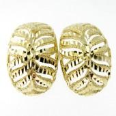 Diamond Cut Gold Earrings