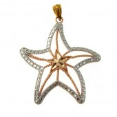Gold Star Fish Pendant